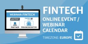 Fintech Online Event / Webinar Calendar