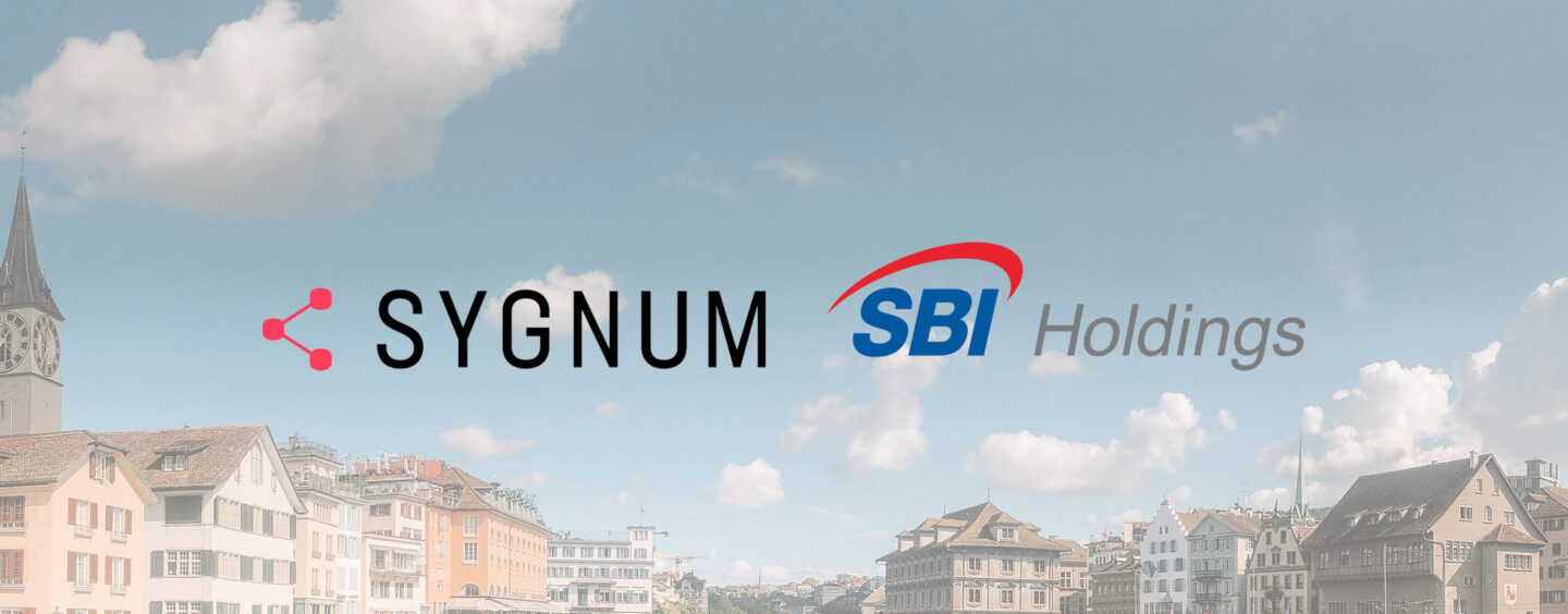 Sygnum Bank Secures Eight Figure Investment From SBI Digital Asset