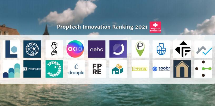 PropTech Innovation Ranking 2021: Das sind die Top-20-Firmen der Schweiz