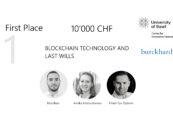 Die Gewinner der Blockchain Challenge 2021 der Universität Basel