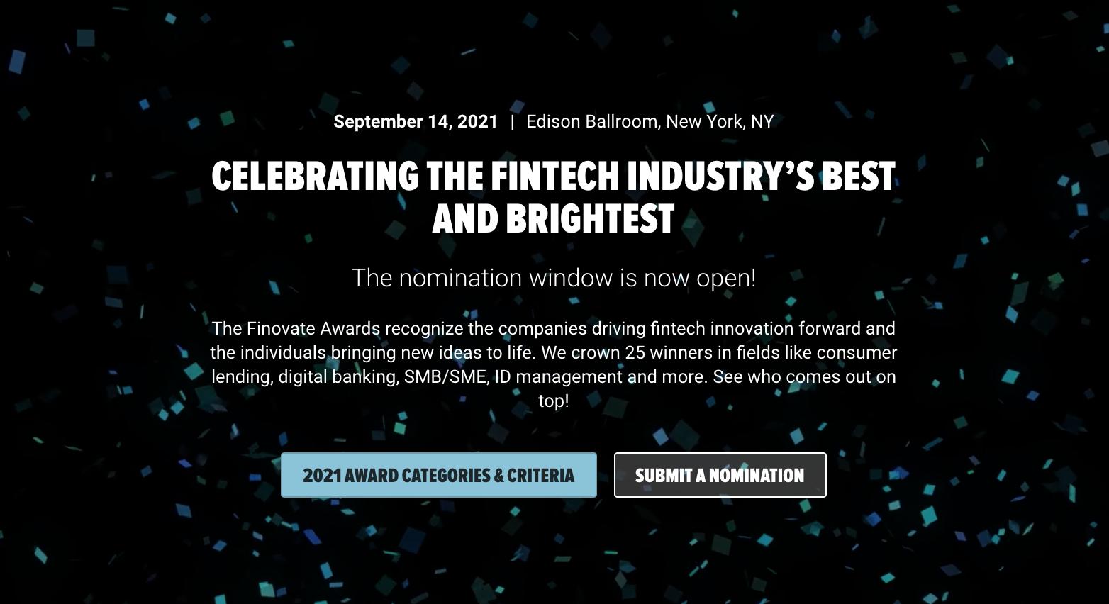 Finovate Awards 2021