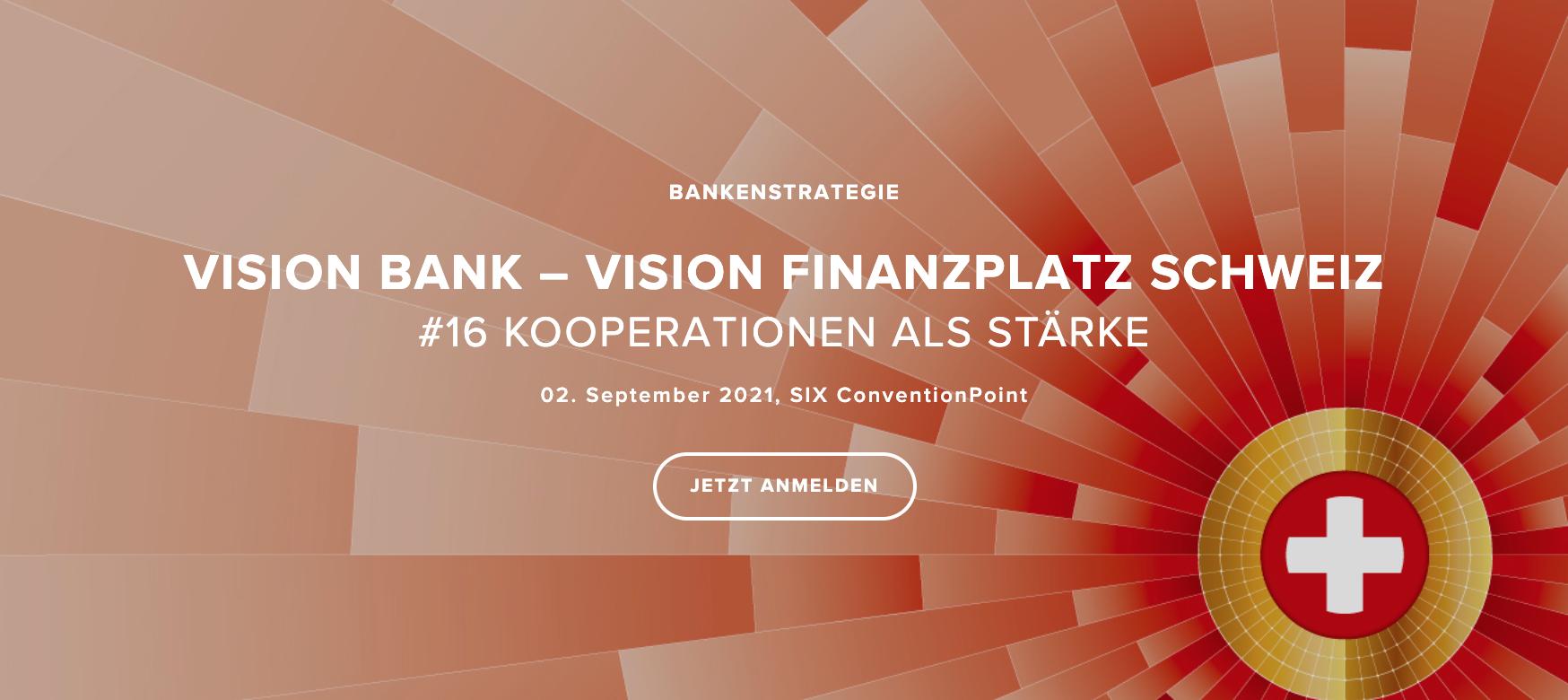 VISION BANK – VISION FINANZPLATZ SCHWEIZ