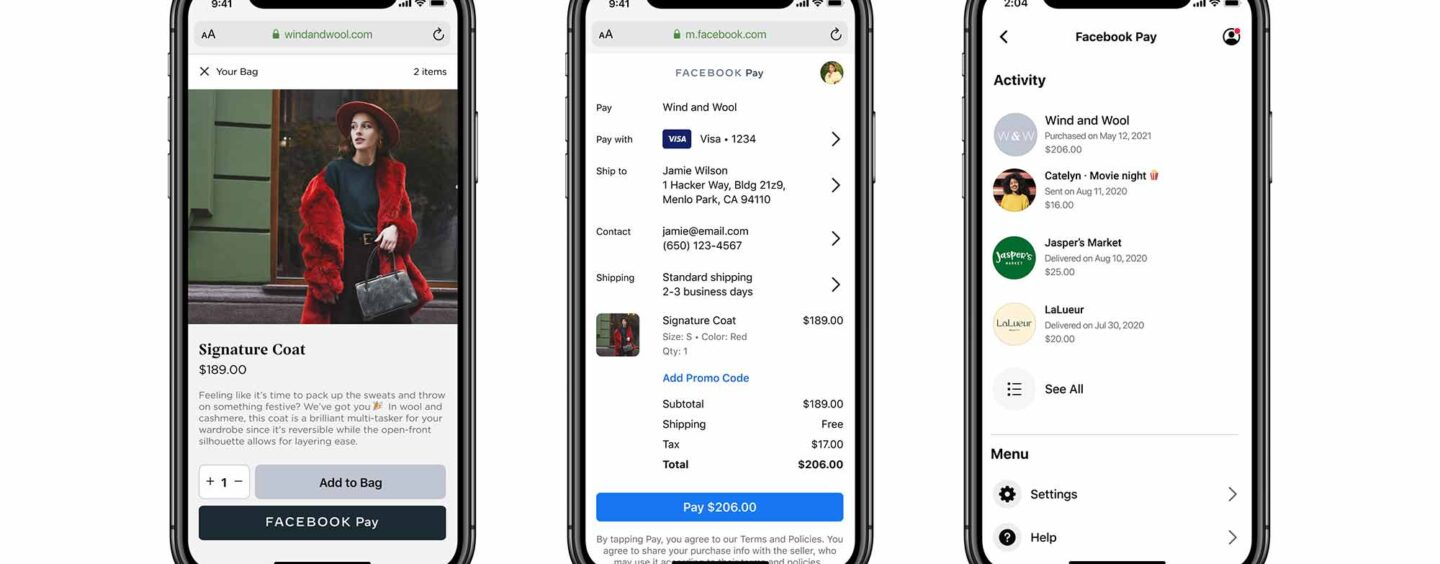 Facebook Pay To Be Available to Online Retailers Starting With Shopify